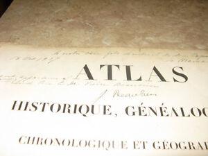 atlas  de a lesage 1827  signé par J BEAUBIEN  maire outremont