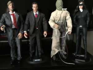 BATMAN 12 INCH CUSTOM FIGURES BRUCE WAYNE,TWO FACE SCARECROW,CAT