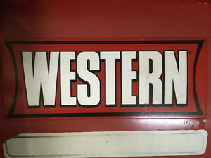 "Western Plow stickers for sale -sticker size=14""L x 5.5""H, Vinyl"