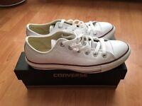 New Converse white leather UK unisex 6