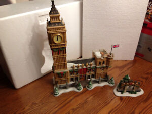 DEPART 56 - BIG BEN - WITH WORKING CLOCK - SET OF 2 -H8