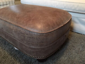 Leather Ottoman from Restoration Hardware $200