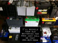 I'll recycle your old batteries for free.