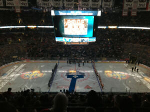 TORONTO MAPLE LEAFS VS VANCOUVER CANUCKS! 4 SEATS CENTER ICE!