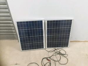 two 40 watt yingli solar panel's