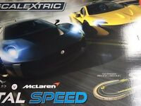 Scalextric total speed racing track with McLaren jaguar