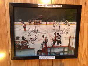 FLYERS vs SABRES signed fight photo nhl 11x14 great story
