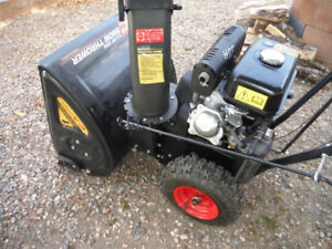 5 h.p. snowblower ,  5 speed and , reverse, like new...
