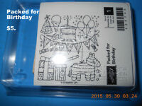 """Stamp set by Stamping up   """"Packed for Borthday"""