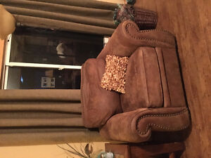 Micro Suede Couch and Chair