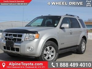2008 Ford Escape LIMITED   4WD - Sunroof - Tow Pkg - Nav