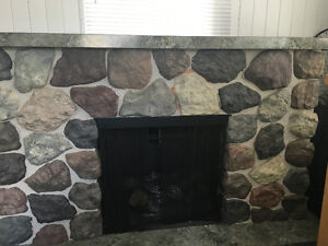 FREE- Electric fireplace with mantel