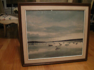 BEAUTIFUL FRAMED PHOTOGRAPH of BEDFORD BASIN SUNSET