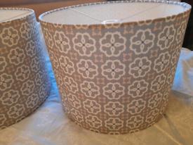 2 large lampshades