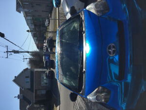 Chrome Blue Wrap Scion IQ