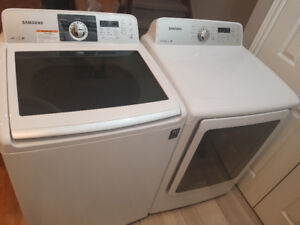 "Manufacture 2014 Samsung 27""  top load washer & frontload dryer"