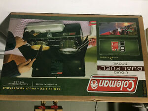 Coleman stove and coffee maker