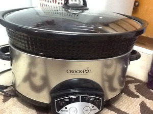 Large Stainless steel Crock Pot