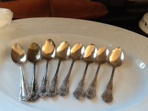 8  Clollectible Sterling spoons Saint John Riffle Club Engraved