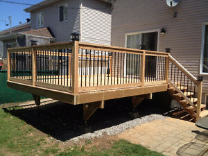 Patio, terrace, fences