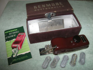 VINTAGE KENMORE BUTTONHOLE ATTACHMENT..in ORIGINAL BOX