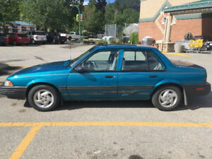 Vintage 1993 Chevy Cavalier in Amazing Condition with low KMs