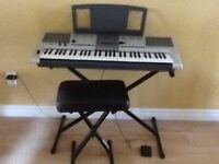 YAMAHA Keyboard with Bench & Pedal for sale!!