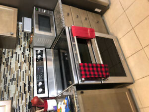 Kitchen aid electric stove with Double oven for sale