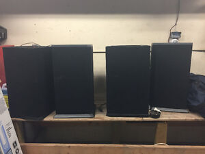 2 Nuance speakers with 2 powered subs