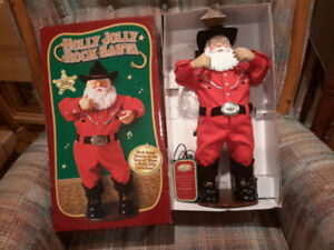 Collectible Holly Jolly Rock dancing Santa