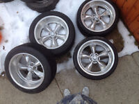 """4 20"""" rims with tires"""