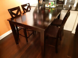 LEON's Pub Height 7-piece Dining Set.