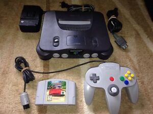 Nintendo 64 N64 with all cable 1 remote 1 game