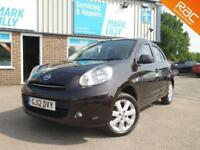 2012 Nissan Micra 1.2 12v Acenta BLACK ONLY 60,000 MILES £30 A YEAR TO TAX