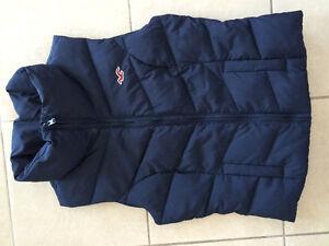 Navy Blue Down-Filled Hollister Vest