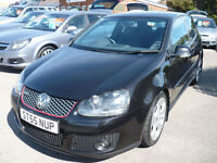 VW GOLF 2.0 GTI 2005(55),6 SPEED,SERVICE HISTORY,BLACK