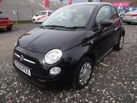 FIAT 500 1.2 POP~60/2010~MANUAL~STUNNING METALLIC BLACK~JUST 11k !!!! WARRANTED
