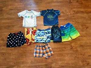 Boy swim shorts and shirts size 6 month to 18 months