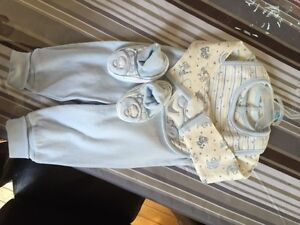Baby Outfit 3 months Tigger Winnie the Pooh Blue White Cotton