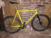 Yellow Foffa Fixie single speed bike (xtra large frame)