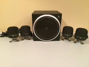 Logitech 5 piece Computer Speakers