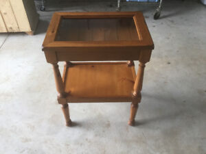 Display table, night stand, coffee table, cabinet, hutch, end