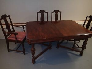 Dining Table Set with 5 Chairs