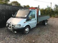 2003 Ford Transit Long wheels base Flat bed pick up with 1 ton lift!
