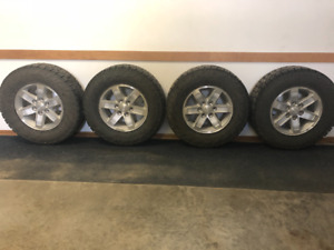 "Set of 4 - 17"" GM rims 2010; Toyo C/T Open Country Studded Tires"