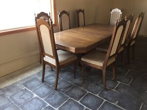 Table with eight chairs