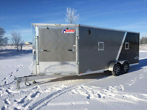 7x23 Pace Drive in and Out Snowmobile Trailer