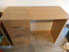 Desk / Dressing table with wall protector and spacious drawers