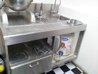 Restaurant Equipment, Stainless steel table with sink