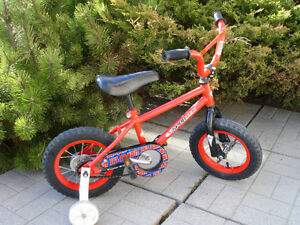 """Kids bicycle (12"""" wheels) with training wheels"""